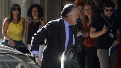 Luis Bárcenas, el pasado 26 de junio, en su llegada a la Audiencia Nacional