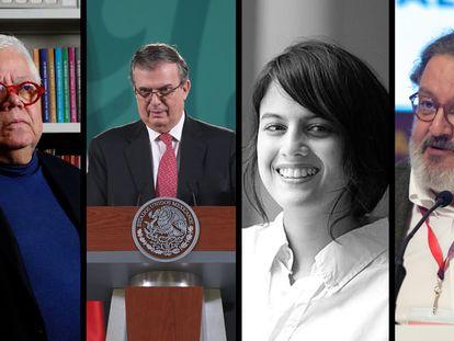 Enrique Márquez, Marcelo Ebrard, Brenda Lozano y Jorge F. Hernández.