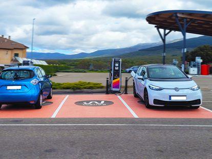Punto de carga de coches eléctricos, en una foto de archivo.