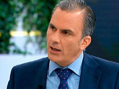 El secretario general de Vox, Javier Ortega Smith, en 'La hora de la 1', de TVE, este jueves.