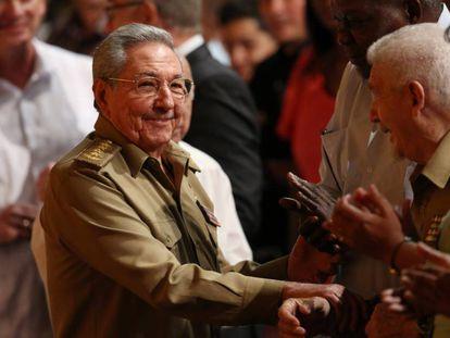 Raúl Castro en diciembre en un acto en La Habana.