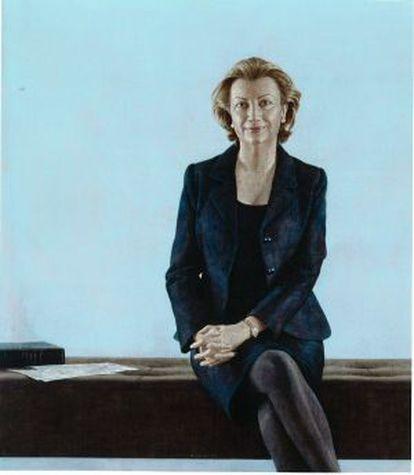 Retrato de Luisa Fernanda Rudi, expresidenta del Congreso, realizado por Hernán Cortés Moreno en 2007