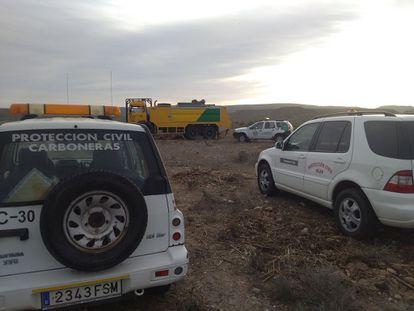 Vehículos de Protección Civil de Carboneras (Almería) en una imagen de archivo.