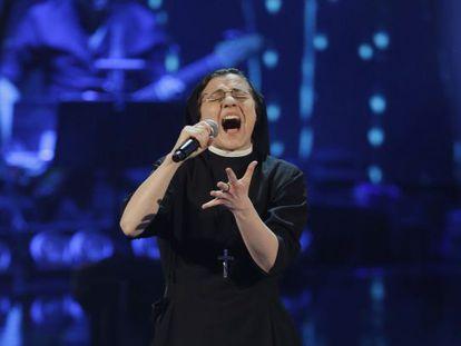 Cristina Scuccia, en la semifinal de 'La Voz' italiana.