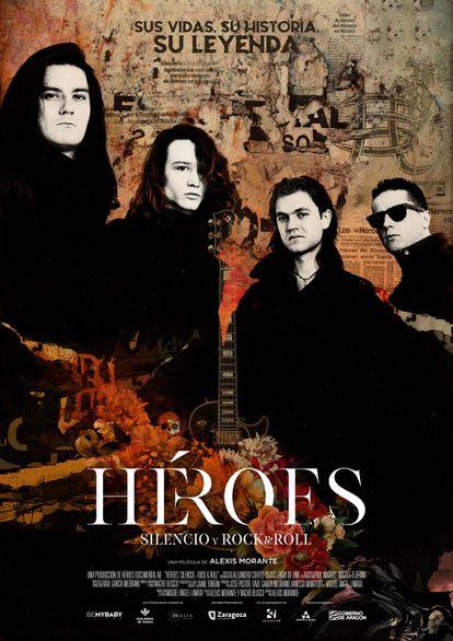 Cartel del documental 'Héroes: silencio y rock & roll', de Alexis Morante.