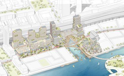 Plan de ejecución del barrio de Quayside. |