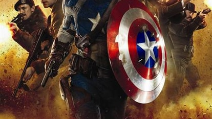 Cartel de El Capitán América: El Primer Vengador