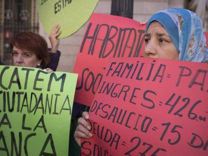 Protesta contra las hipotecas tóxicas.