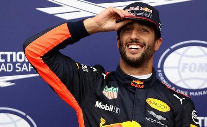 Daniel Ricciardo, en Monza, en septiembre de 2017.
