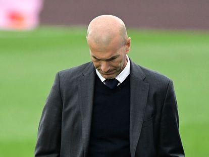 Zinedine Zidane, en el partido contra el Villarreal.