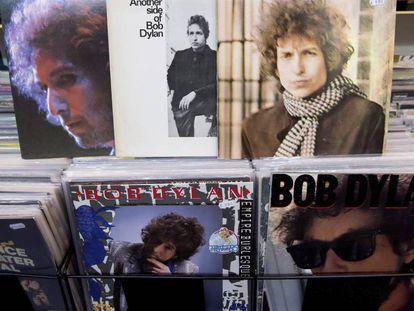 Discos de Bob Dylan en una tienda de Múnich.