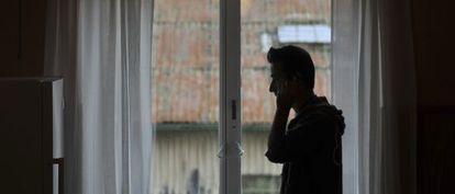 Un refugiado sirio, demandante de asilo, en un hostal en Ystad en 2012.