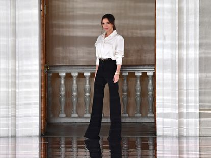 Victoria Beckham durante la presentación de su colección en Londres, el pasado febrero.