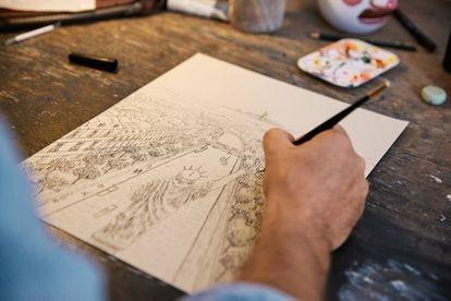 La primera ilustración de Javier Aznárez para Wes Anderson.