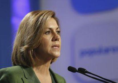 La secretaria general del Partido Popular, María Dolores de Cospedal.