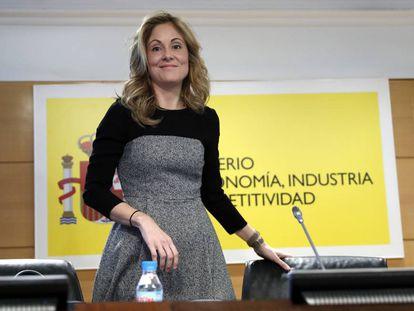 La secretaria de Estado del Tesoro, Emma Navarro, el pasado mes de enero