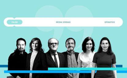 Los candidatos a presidir la Comunidad de Madrid. IGNACIO POVEDANO