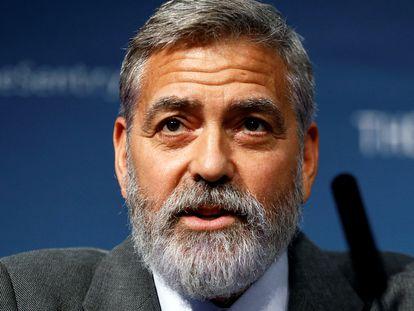 George Clooney, en una conferencia contra la corrupeción en África celebrado en Londres en septiembre de 2019.