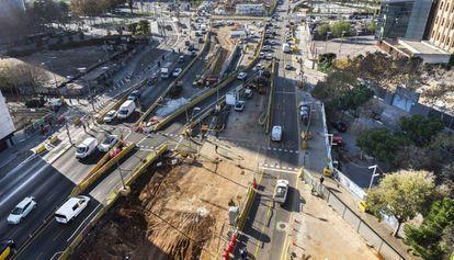 Las obras de la plaza de les Glóries tendrán impacto en el servicio de Rodalies.