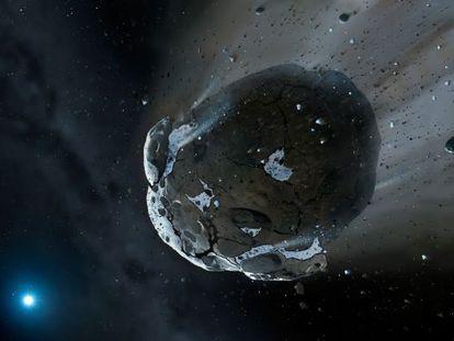 Recreación de un asteroide como el que pudo golpear Australia