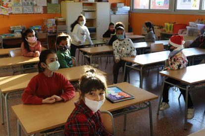 Ultimo dia de clase antes de las vacaciones de navidad en el colegio EL Valles.