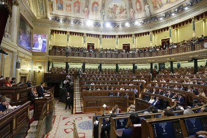 Congreso de los Diputados durante la primera votación de la sesión de investidura fallida de Mariano Rajoy.