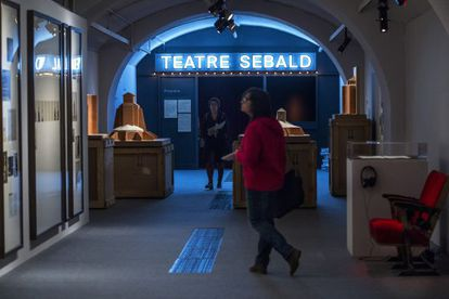 Trayecto final de la exposición sobre Sebald en el CCCB.