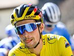 14 March 2021, France, Le Plan du Var: Slovenian cyclist Primoz Roglic of Team Jumbo-Visma is seen prior to the start of the eighth stage of the 79th edition of the Paris-Nice cycling race, 92.7 km from Le Plan du Var to Levens. Photo: David Stockman/BELGA/dpa 14/03/2021 ONLY FOR USE IN SPAIN