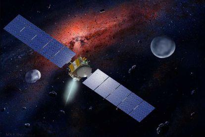 Ilustración de la misión espacial Dawn, de la NASA.