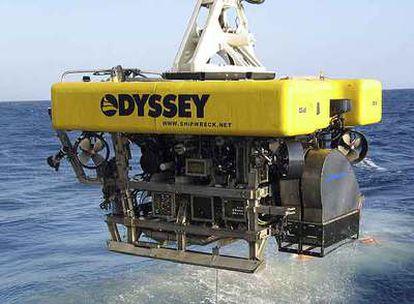 Uno de los espectaculares rastreadores submarinos utilizados por la empresa Odyssey.