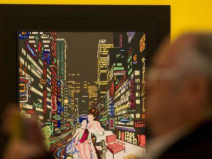 Exposición 'Reflejos del Pop' en el Museo Carmen Thyssen, con cuadros como 'Reina por un día II' del Equipo Realidad.