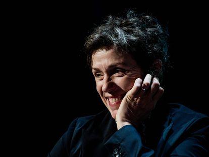 Frances McDormand, en una clase magistral en el festival Lumière de Lyon, en octubre de 2019.