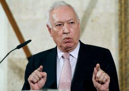 Margallo, en la toma de posesión de la nueva delegada del Gobierno en la Comunidad Valenciana.