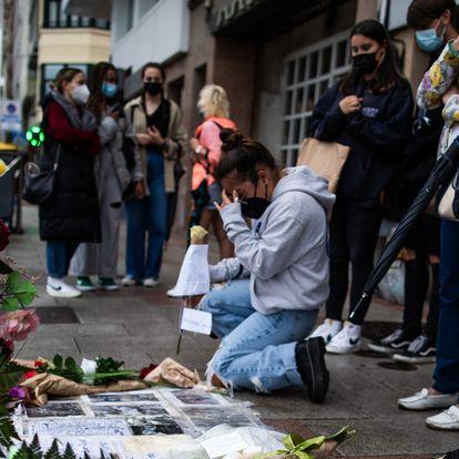 Concentraci—n en A Coru–a en repulsa por el asesinato de Samuel Luiz de 24 la noche del pasado s‡bado.îscar Corral05/07/21