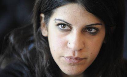 Lina Ben Mhenni, en 2011.