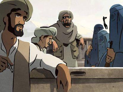 Imagen de 'Las golondrinas de Kabul'. En imagen, un adelanto de la película.