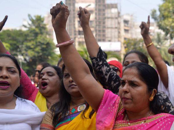 Manifiestación del #MeToo en Bombay.