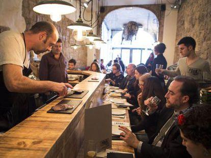 Un restaurante de Barcelona, a la hora de la comida.