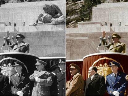 Fotograma de la serie 'España después de la guerra: el franquismo en color'.