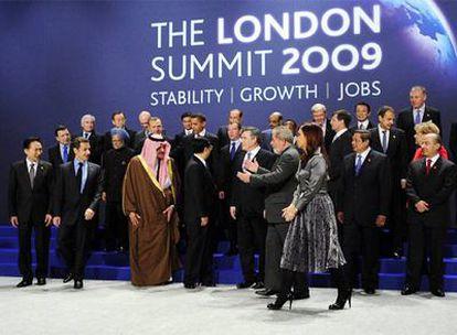Los líderes del G-20 posan en la pasada cumbre de Londres.