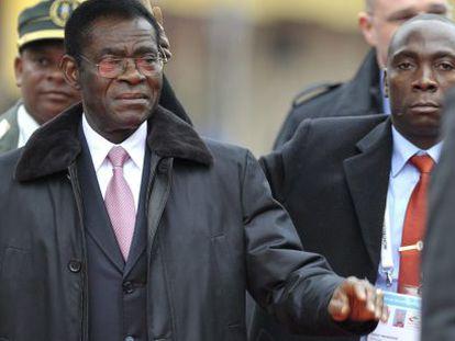 El presidente ecuatoguineano Teodor Obiang en Montreux (Suiza), en noviembre de 2010.