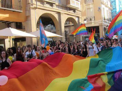 Celebración del Día del Orgullo LGTBI+ en Logroño el pasado 29 de junio.