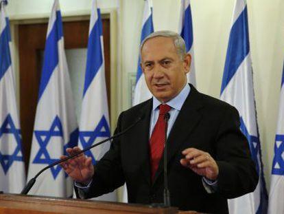El primer ministro Netanyahu, este martes en Jerusalén.