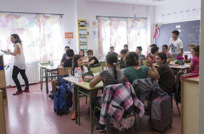 Imagen de archivo de un aula en la Comunidad de Madrid.