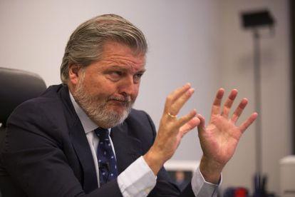 Méndez de Vigo durante la entrevista, el pasado jueves.