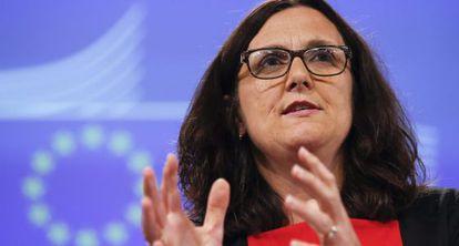 La comisaria de Comercio, Cecilia Malmström.