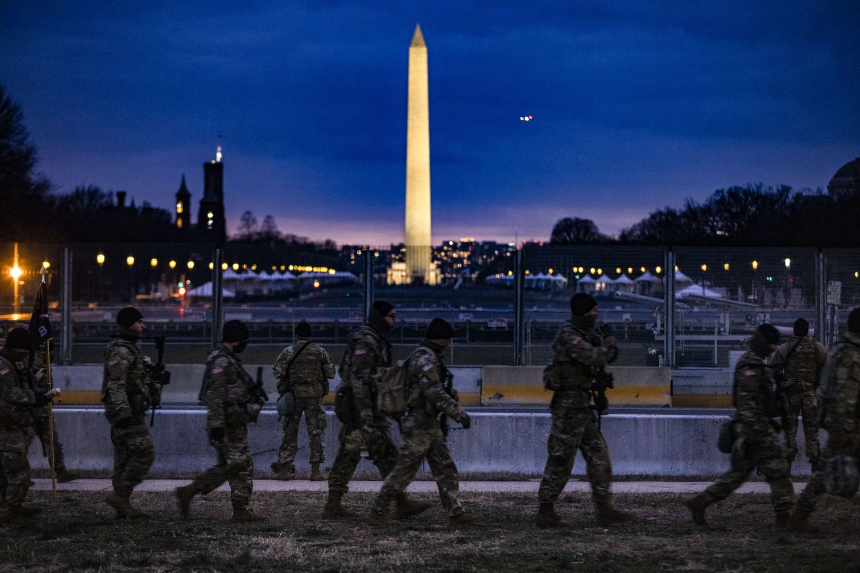 Más de 20.000 miembros de la Guardia Nacional han sido desplegados en la capital de EE UU.