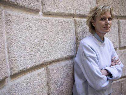 Siri Hustvedt el abril pasado en Barcelona.