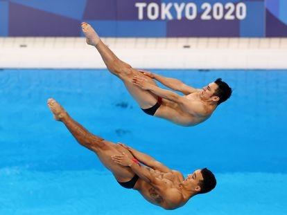 Yahel Castillo y Juan Celaya, durante su competencia, este miércoles.