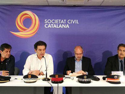 Miembros de Sociedad Civil Catalana anuncian la ampliación de la denuncia del 9-N.